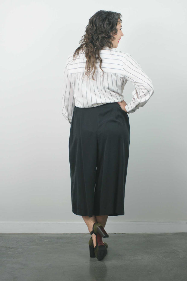 Lady of Yu Blouse, Cream Stripe