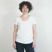 Paige V Neck T Shirt, White