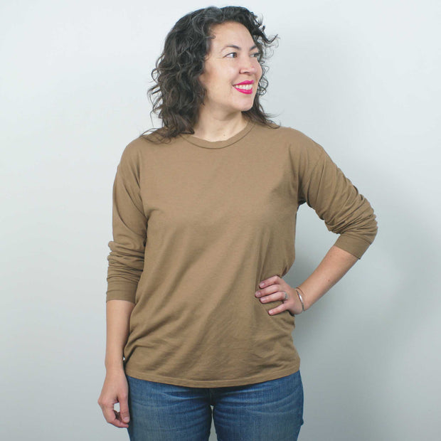 Atwater Long Sleeve Tee (unisex), Coyote