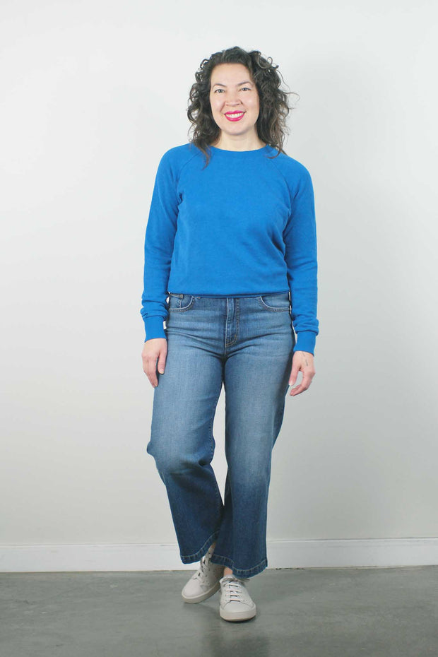 Alpine Raglan Sweatshirt, Lake Blue