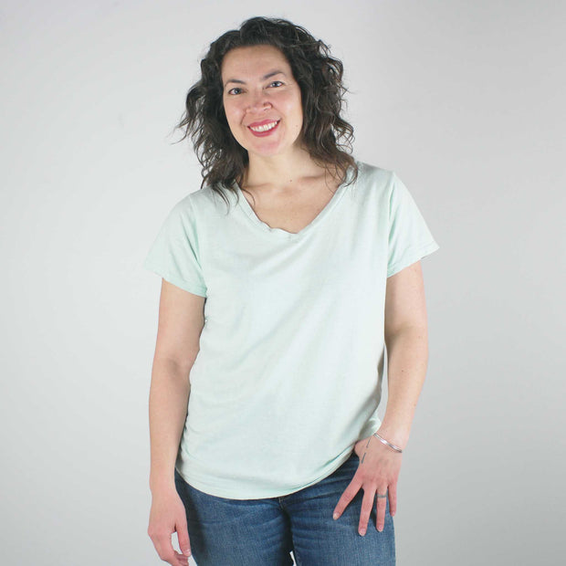 Paige V Neck T Shirt, Saltwater
