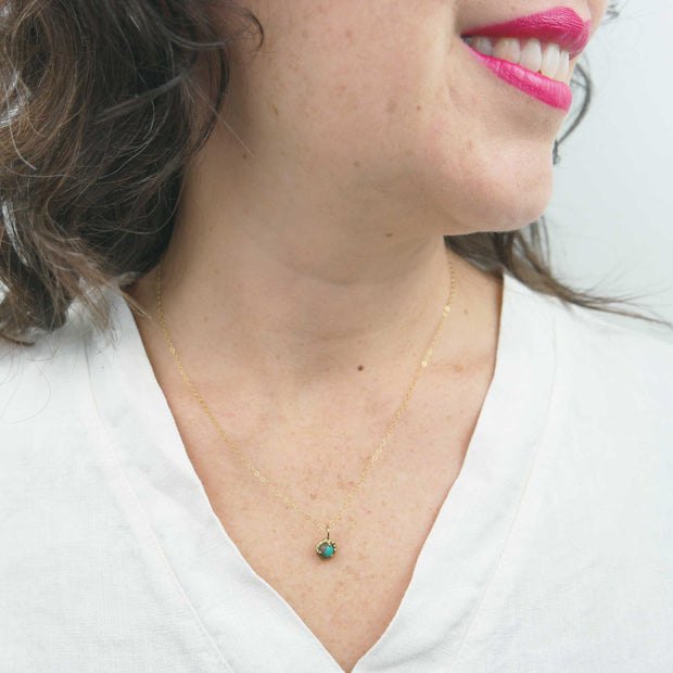 Jade Cove Necklace, 14k Goldfill + Turquoise