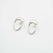 Lucia Earrings, Silver