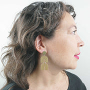 Monochrome Cosmic Ray Earrings