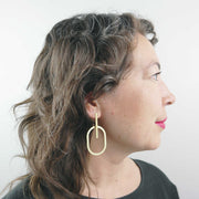 Oval Intersection Earrings