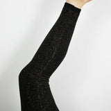 Glitter Leggings, Black/Gold