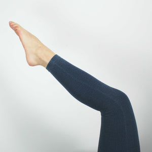 Baby Diamond Knit Leggings, Navy