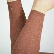 Glitter Leggings, Cognac/Gold