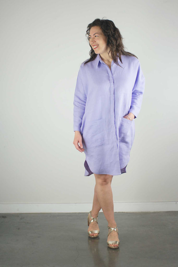 Anne Marie Shirt Dress, Lavender