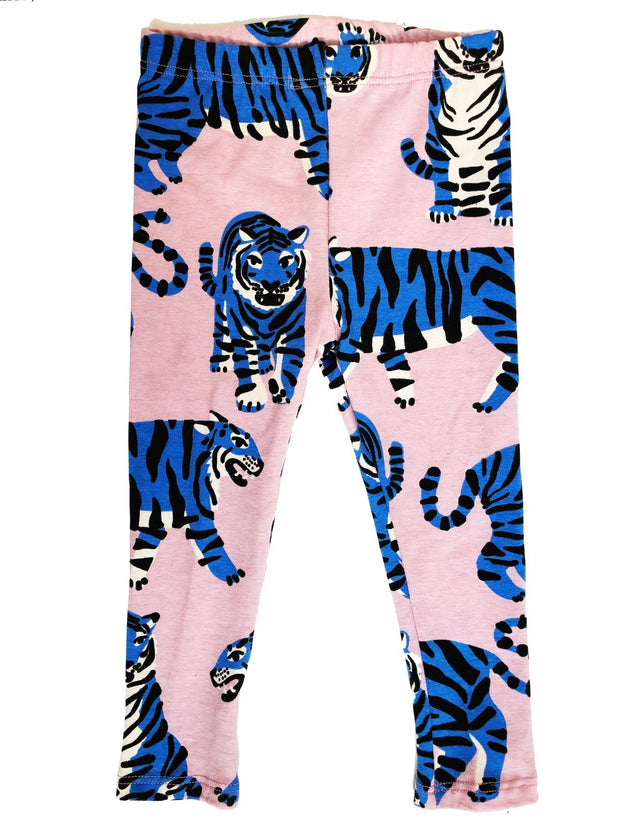 Kid Leggings, Blue Tiger