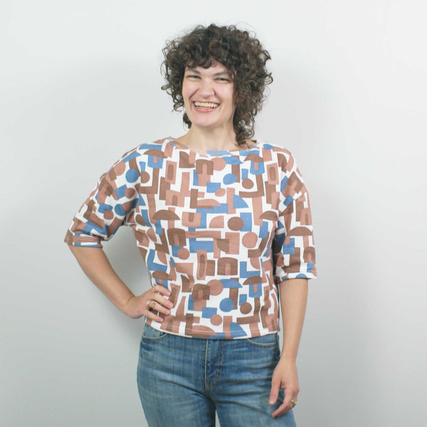 French Terry Short Sleeve Shirt, Decades Natural