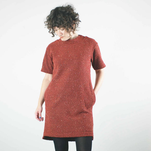 *Pebble Knit Dress, Ruby