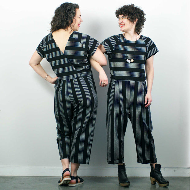 Avignon Jumpsuit, Black Stripe
