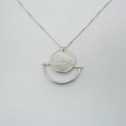 Paths Between Necklace, Sterling Silver