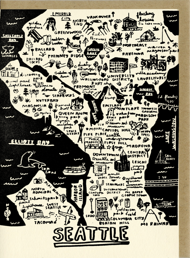 Card, Seattle Map
