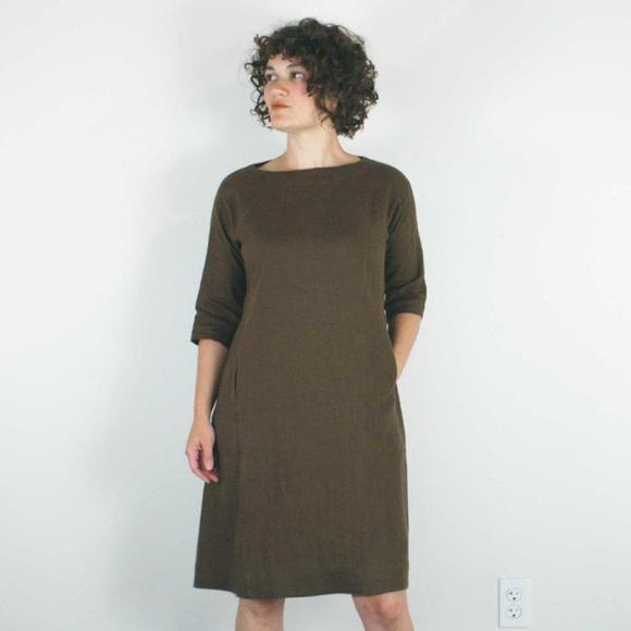 Nico Dress in Brown