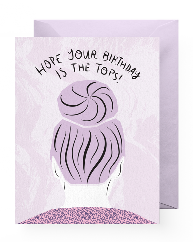 BD Greeting Cards, Top Knot Birthday