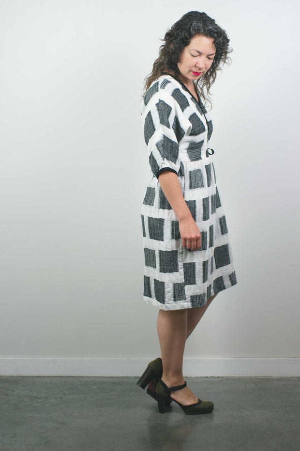 Valentina Dress, Black/White