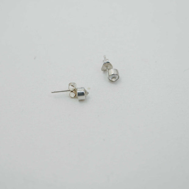 Cubic Zirconia Spike Post, Silver