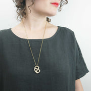 Brass Pretzel Necklace
