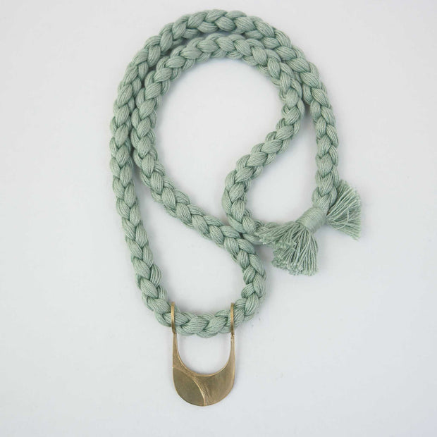 Canal Necklace, BR/Mint