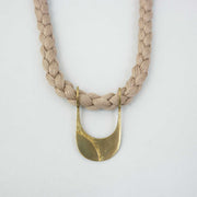 Canal Necklace, Brass/Sand