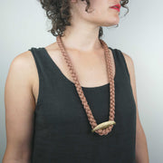 Patterns Necklace, Brass/Toast