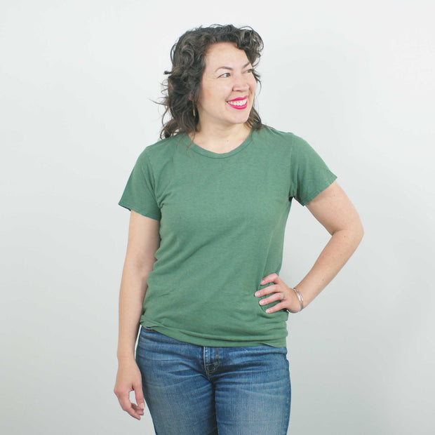 Lorel Crew T Shirt, Spruce Green