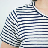 Lorel Crew T Shirt, French Navy Stripe