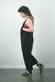 The New World Jumpsuit No. 2, Black Linen