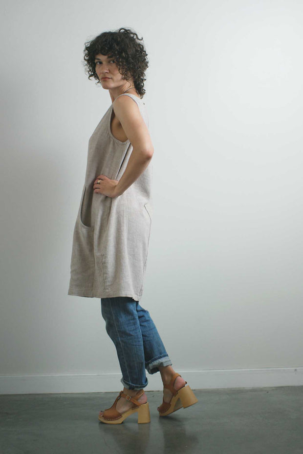 New World Tank Dress, Flax