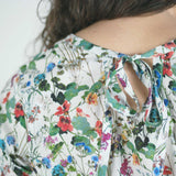 Pin Tuck Blouse, White Floral
