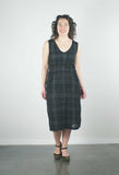 Fiji Dress, Black Plaid Cotton