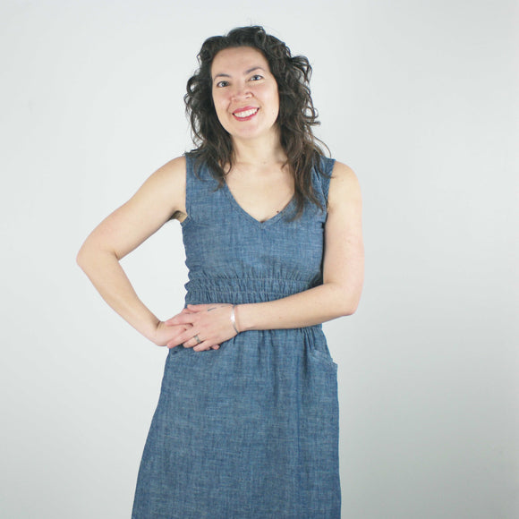 Fiji Dress, Denim Chambray
