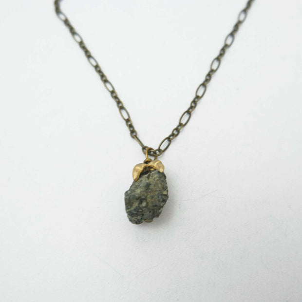 *Claw Necklace, Pyrite