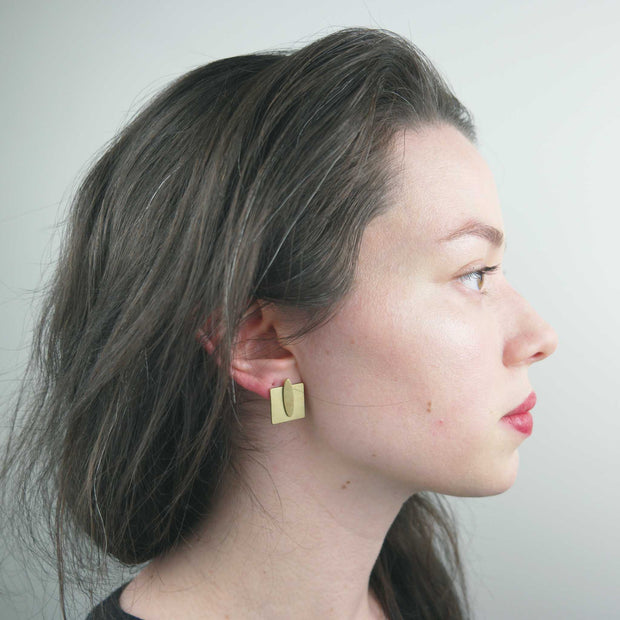 Ear Jacket, Oval Square