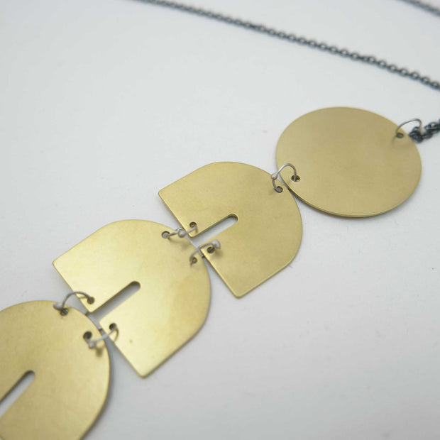 *Telesto Necklace, Monochrome Brass