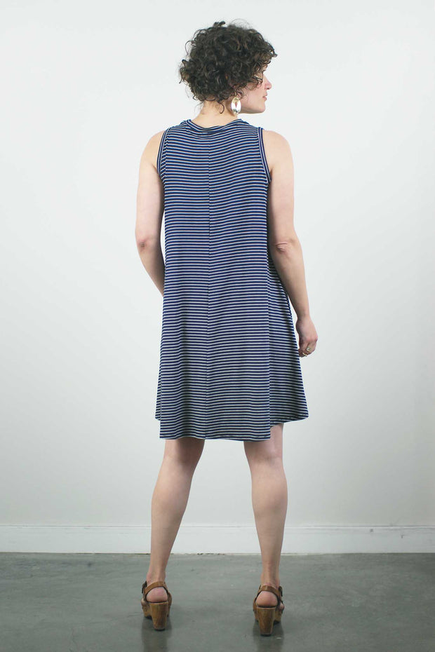 Josie Dress, Navy Stripe