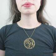 Ecrits Necklace, Brass
