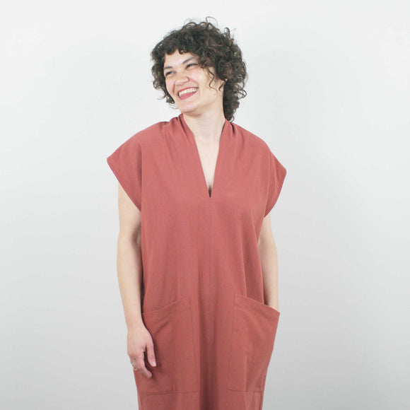 Genny Dress, Terracotta