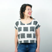 Bordeaux Top, Square Weave