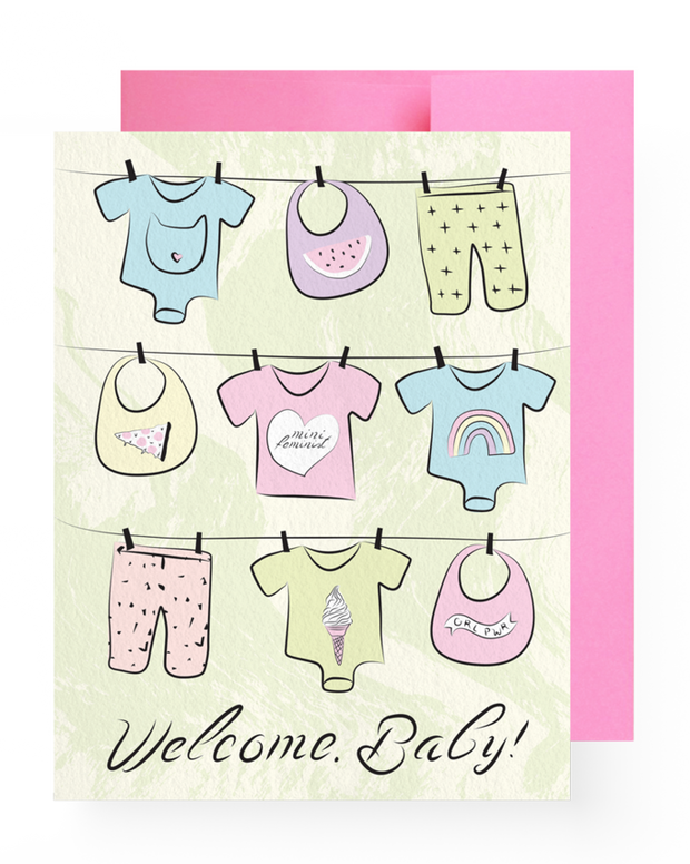 BD Greeting Cards, Welcome, Baby