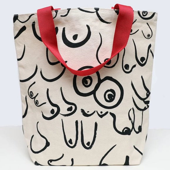 Boobs Tote, White