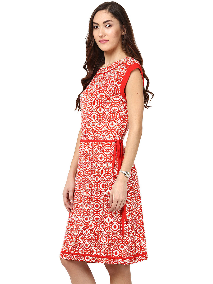 41e35af7a1669 Red Abstract Dress Rs. 720.00 Rs. 2,399.00