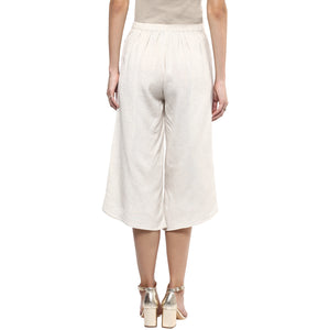 Beige Color Culotte With Front Layer
