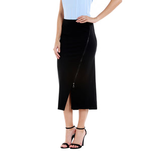 Black Skirt With Side Zip