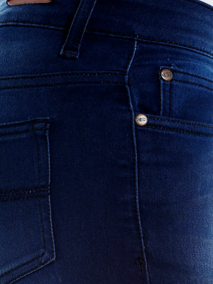 Blue Solid Jeans