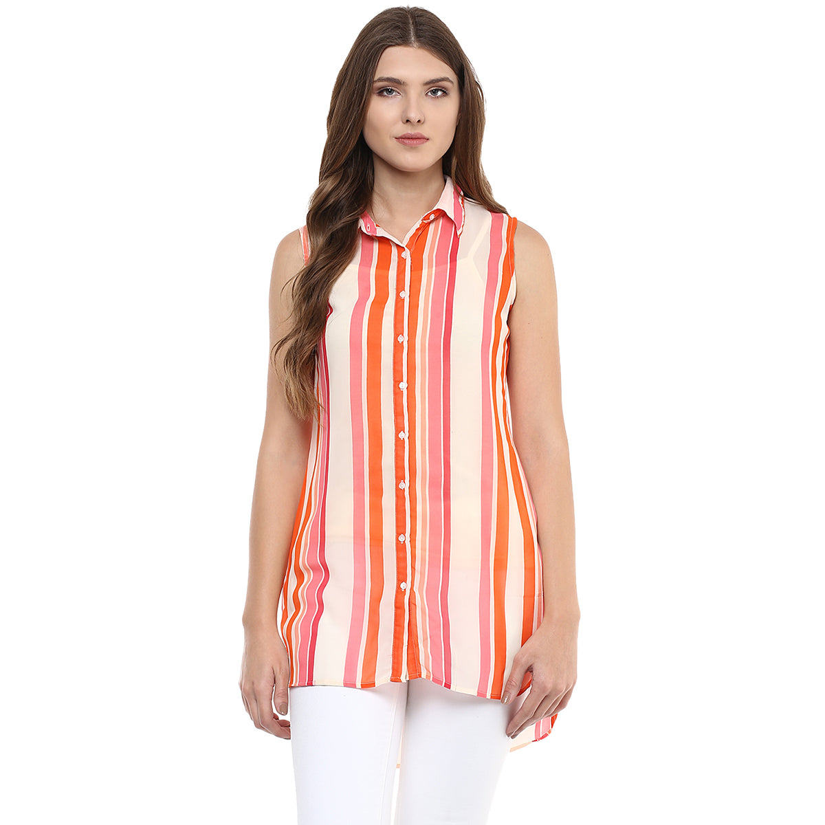 f837559bb19 Home Products Stripe Printed Collar Neck Tunic. FALSE