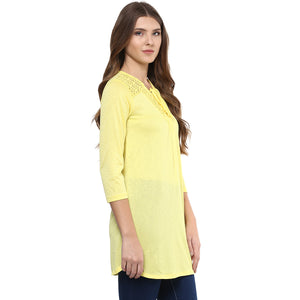 Yellow Polyester Tunic