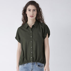 Olive Short Sleeves Shirt